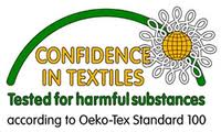 Confidence in textiles logo.