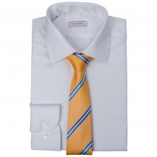 ... Bílá košile SmartMen a žlutá kravata s modrým proužkem 6edcfbb424