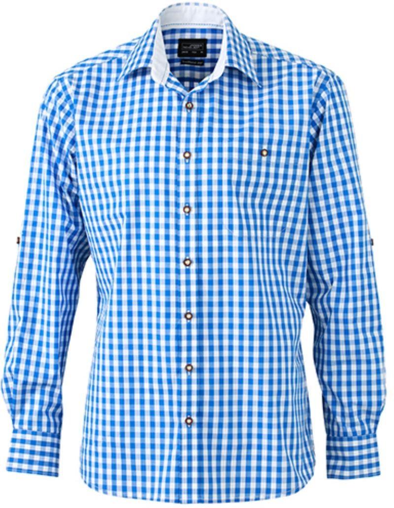 0917cf06a54 Pánská kostkovaná košile rolovací rukávy na knoflíčky