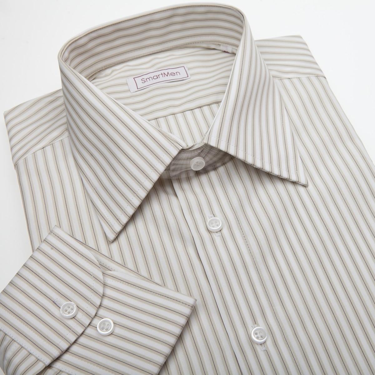 Pánská košile s proužky na bílém podkladu 7bd29a6382