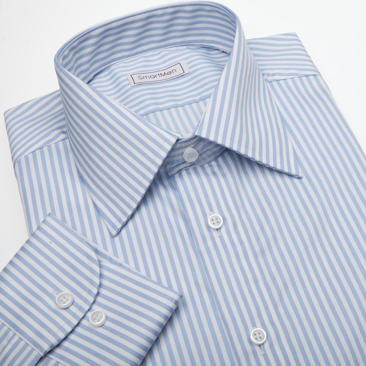 Pánská košile se světle modrým proužkem - Non Iron - nežehlivá 700e9cfacb