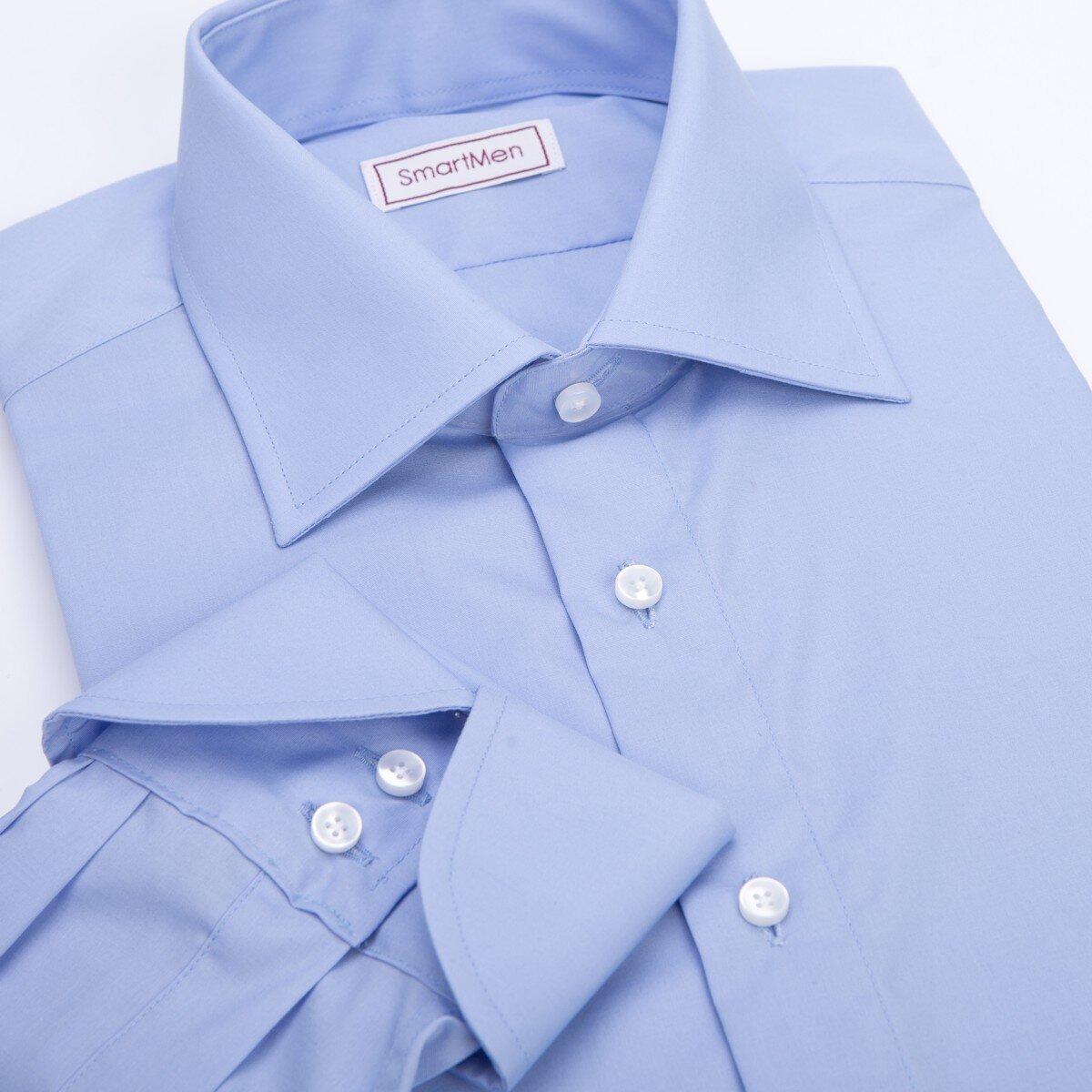 Modrá pánská košile a modré kravaty  bb028f157b