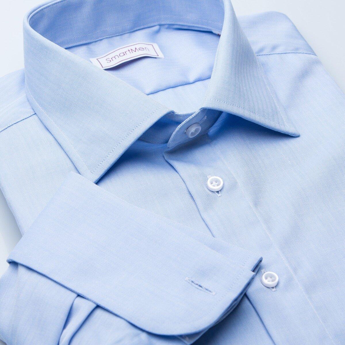 Pánská luxusní košile modrá na manžetové knoflíčky a87b23e110