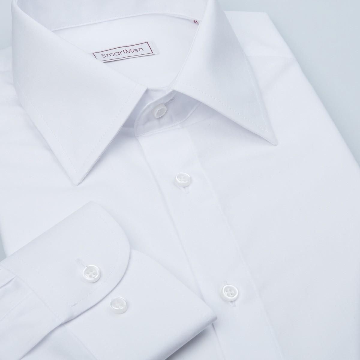66dc10a5ec9 Čistě bílá košile pánská dlouhý rukáv Non Iron