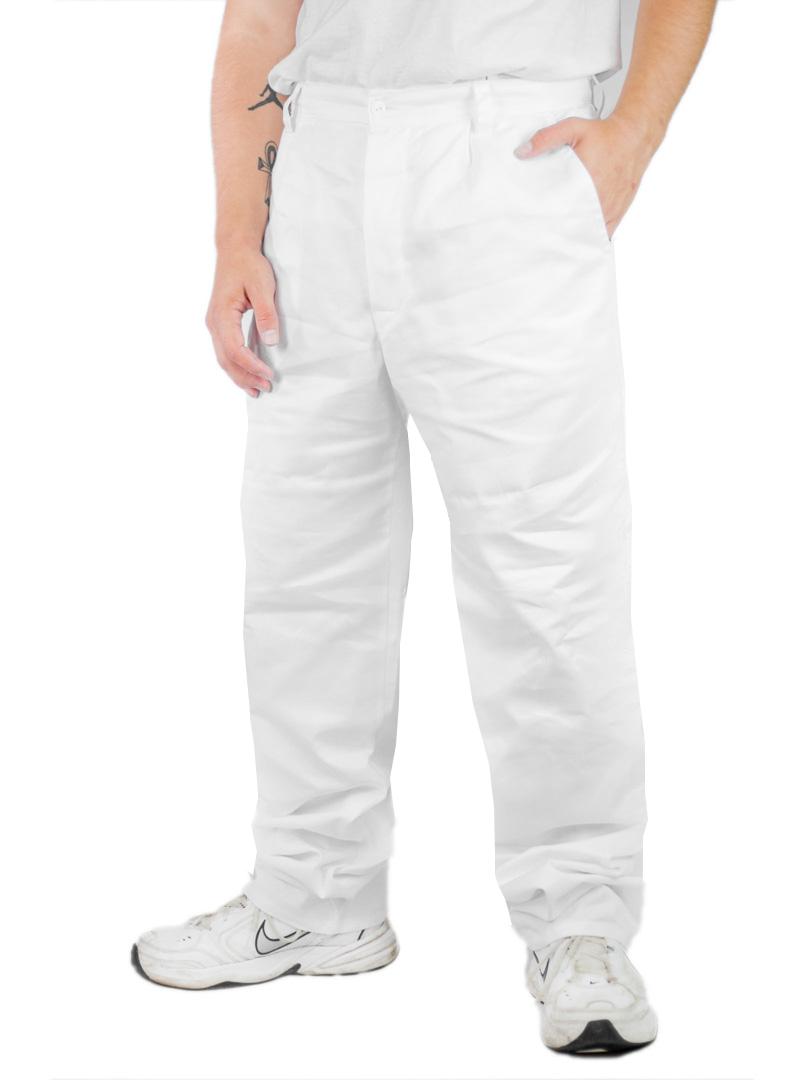 Kuchařské kalhoty bílé pánské - prodloužená délka fa5fd0f495