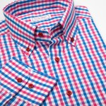 SmartMen pánská košile károvaná Casual - Button down Regular Fit