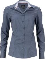 ce3b2479a68e ... Tmavě modrá dámská designová košile s potiskem Diamonds