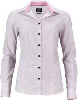 9bcffc1fc591 Růžová dámská designová košile s potiskem Diamonds