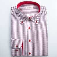 Casual košile károvaná Button-down s kontrastem SmartMen