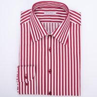 ec579fecffb Pánská košile vínový proužek Non Iron SmartMen