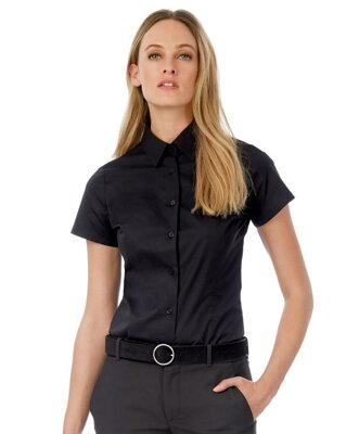 c941b3a480c Popelínová elastická košilová halenka krátký rukáv