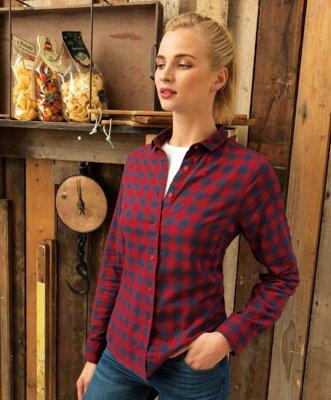 4fab114c0080 Pracovní dámská kostkovaná košile s dlouhým rukávem