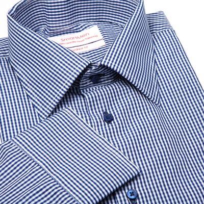 6edcf8caa22 Modrá kostkovaná košile Charleston -50%
