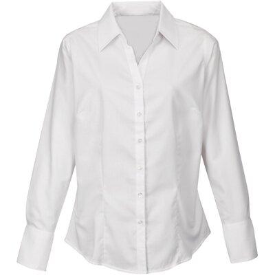 Firemní košile dámská bílá dlouhý rukáv 100 % bavlna s úpravou pro snadné  žehlení 638853d55b