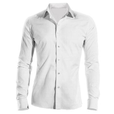 Firemní košile pánská bílá dlouhý rukáv 100 % bavlna s úpravou pro snadné  žehlení bfd7d1a7c7