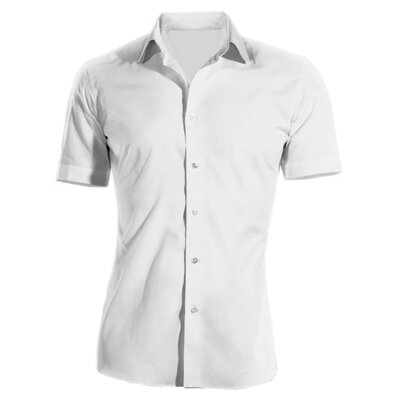Pracovní košile pánská bílá krátký rukáv 100 % bavlna s úpravou pro snadné  žehlení a2a6819377