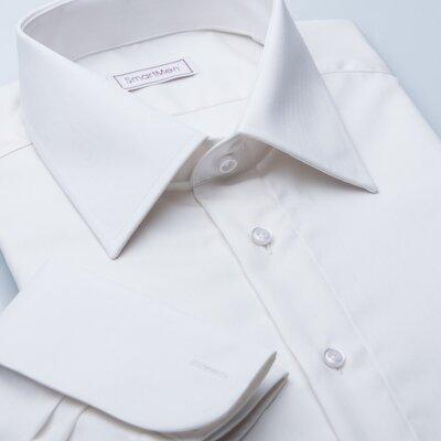8c2ecda64d9 Svatební smetanová košile na manžetové knoflíčky