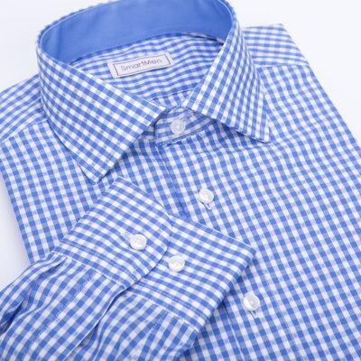 3cac9121d5c Pánská košile modrá kostka - Casual II