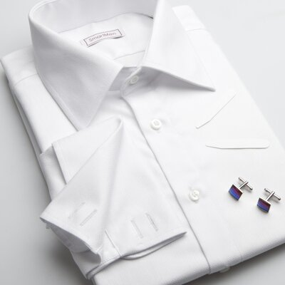 f963fbfc1d9 Pánská luxusní košile bílá na manžetové knoflíčky