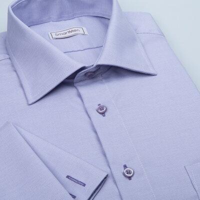da73e1fb8c4 Pánská luxusní košile fialová na manžetové knoflíčky