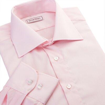 Lososová společenská košile dlouhý rukáv  a6ad4e336e