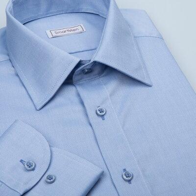 678829498c3 SmartMen  Modrá pánská košile Royal Oxford Easy Care