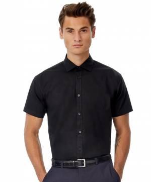 1b73cfde336 Popelínová elastická košile pánská krátký rukáv