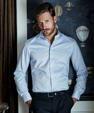 Slim fit pánská košile dlouhý rukáv Tee Jays Easy Iron ae6f18a39c5