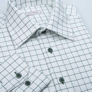 81f8d48fae7 Pánská kostkovaná košile zelená Oxford Green