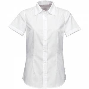 fe8c6a98fa6 Firemní halenka dámská bílá krátký rukáv 100 % bavlna s úpravou pro snadné  žehlení