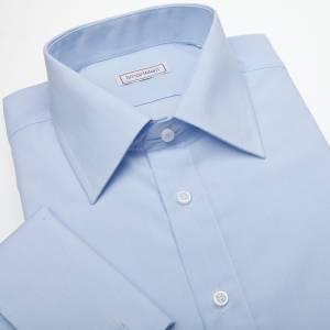 9fffc39ee3cd Společenská modrá košile na manžetové knoflíčky Easy-care