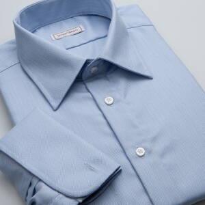 ba87cc2a86e5 Pánská luxusní košile nebesky modrá na manžetové knoflíčky