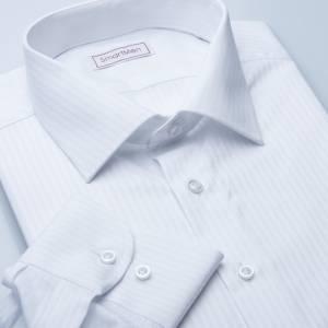 Pánská košile bílá Elegance Slim proužek 771bb4b9dd