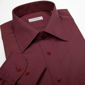 Vínově červená košile s dlouhým rukávem s knoflíčky v barvě 58d4a96ba5c